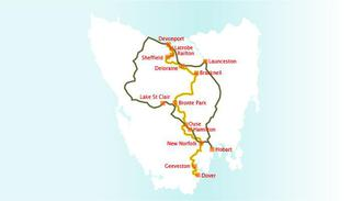 Tasmanian trail map